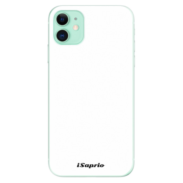 Odolné silikonové pouzdro iSaprio - 4Pure - bílý - iPhone 11