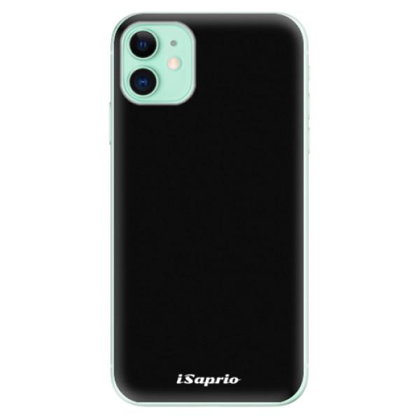 Odolné silikonové pouzdro iSaprio - 4Pure - černý - iPhone 11