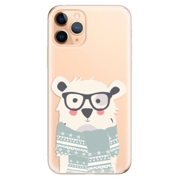 Odolné silikonové pouzdro iSaprio - Bear with Scarf - iPhone 11 Pro