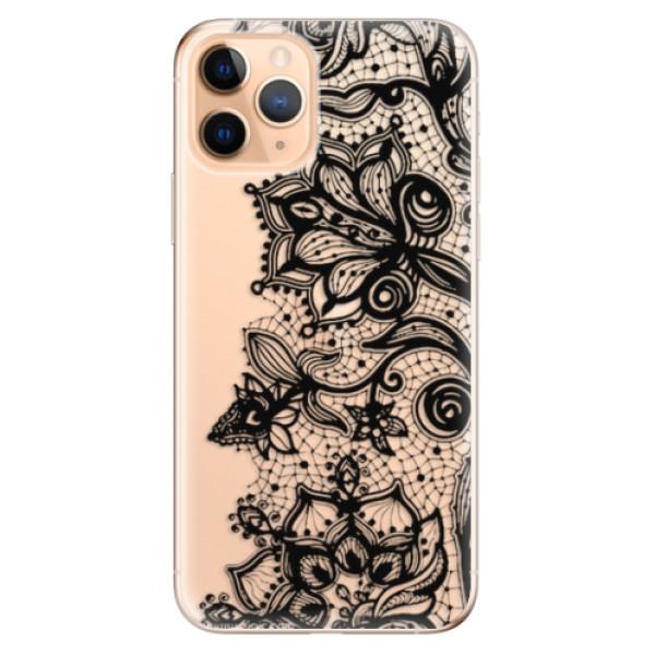 Odolné silikonové pouzdro iSaprio - Black Lace - iPhone 11 Pro