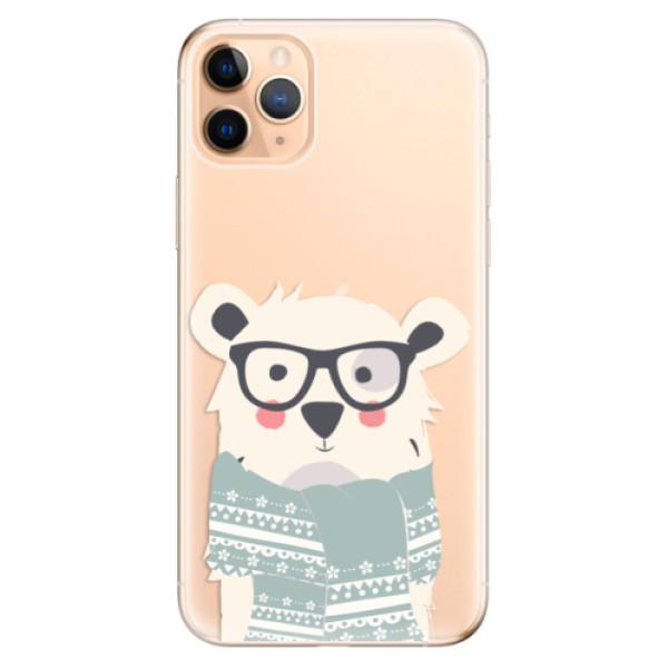Odolné silikonové pouzdro iSaprio - Bear with Scarf - iPhone 11 Pro Max