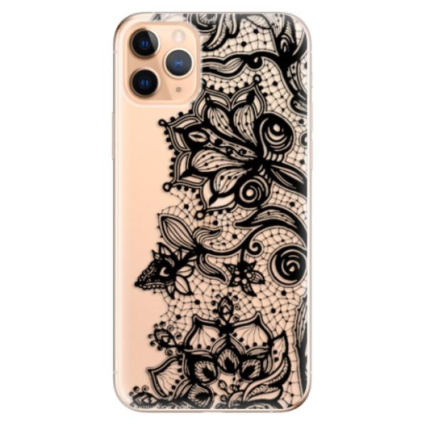 Odolné silikonové pouzdro iSaprio - Black Lace - iPhone 11 Pro Max