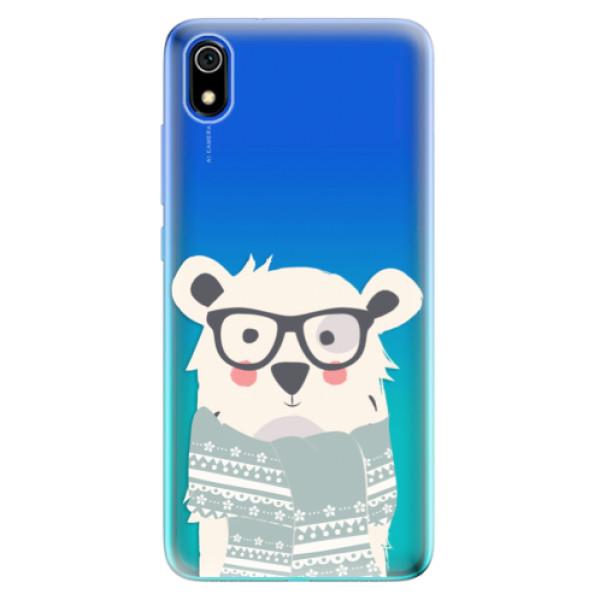 Odolné silikonové pouzdro iSaprio - Bear with Scarf - Xiaomi Redmi 7A