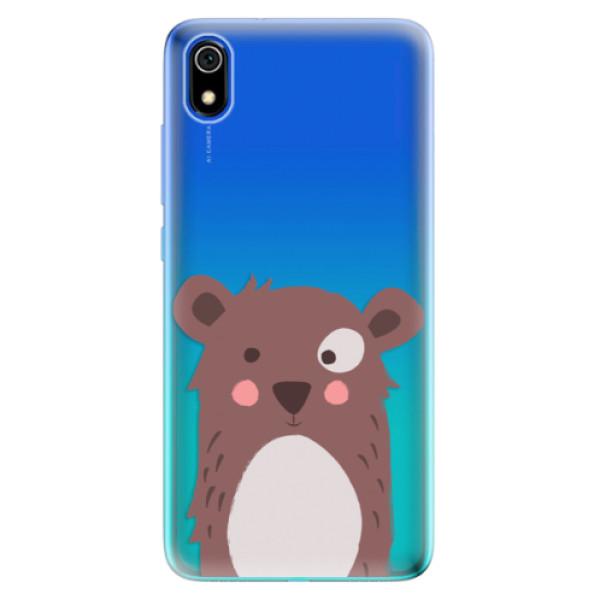 Odolné silikonové pouzdro iSaprio - Brown Bear - Xiaomi Redmi 7A