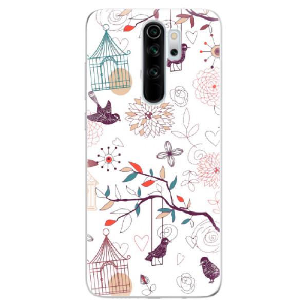 Odolné silikonové pouzdro iSaprio - Birds - Xiaomi Redmi Note 8 Pro