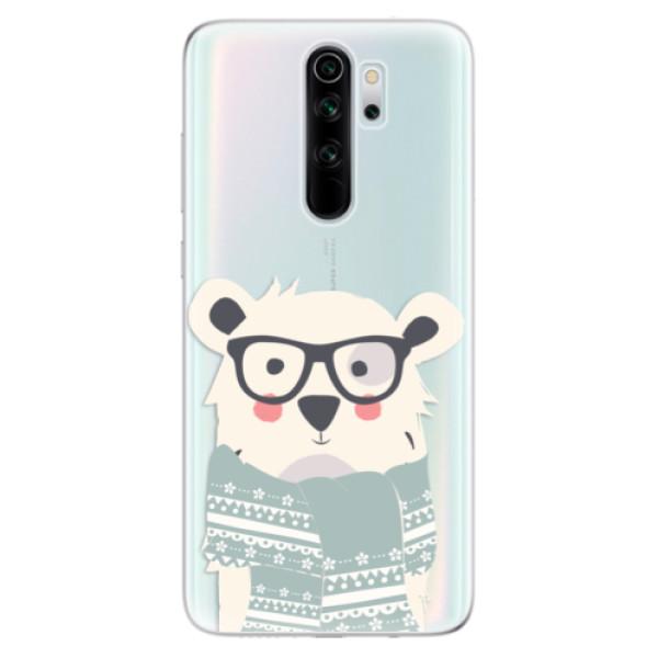 Odolné silikonové pouzdro iSaprio - Bear with Scarf - Xiaomi Redmi Note 8 Pro