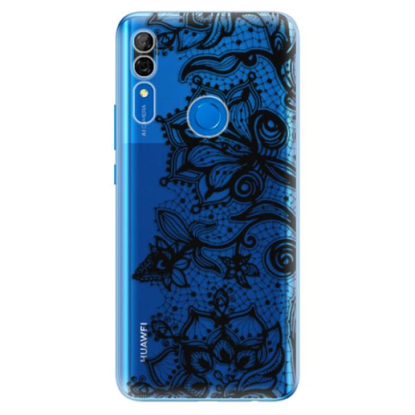 Odolné silikonové pouzdro iSaprio - Black Lace - Huawei P Smart Z