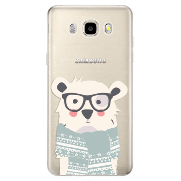 Odolné silikonové pouzdro iSaprio - Bear with Scarf - Samsung Galaxy J5 2016