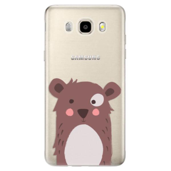 Odolné silikonové pouzdro iSaprio - Brown Bear - Samsung Galaxy J5 2016