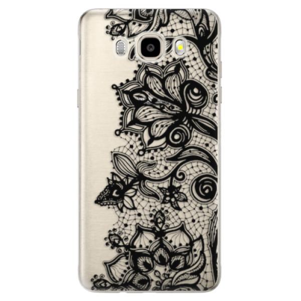 Odolné silikonové pouzdro iSaprio - Black Lace - Samsung Galaxy J5 2016