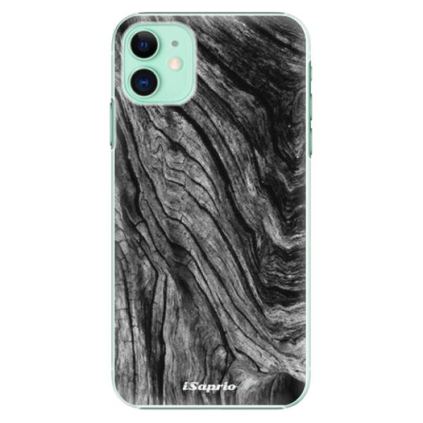 Plastové pouzdro iSaprio - Burned Wood - iPhone 11