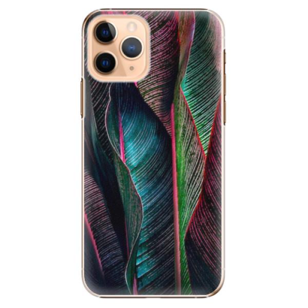 Plastové pouzdro iSaprio - Black Leaves - iPhone 11 Pro