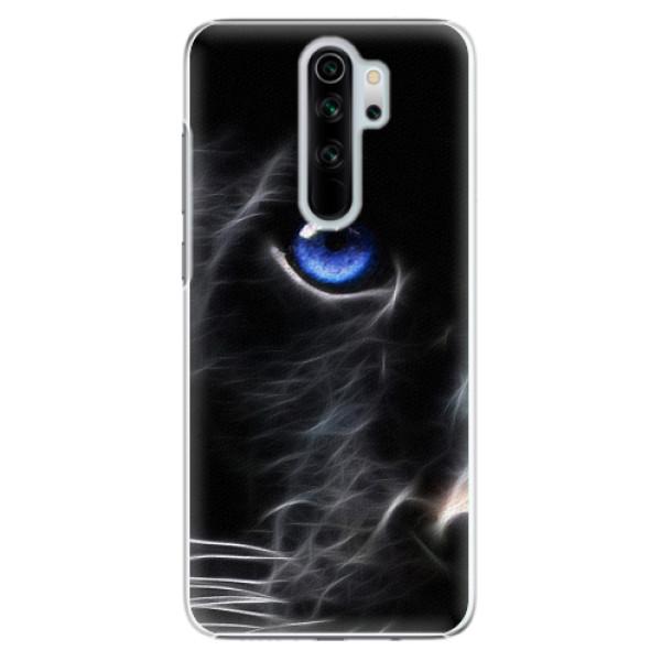 Plastové pouzdro iSaprio - Black Puma - Xiaomi Redmi Note 8 Pro
