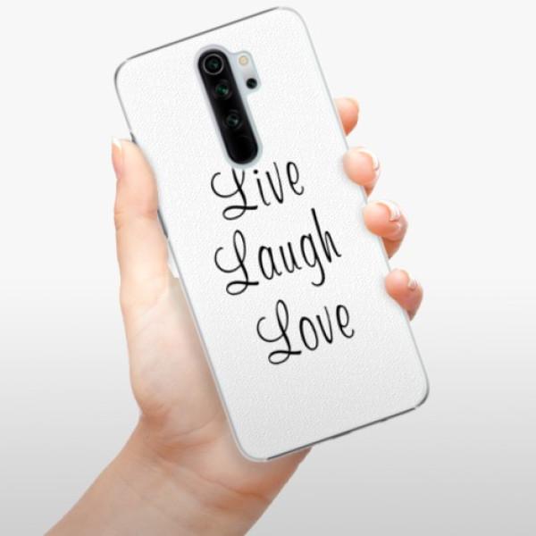 Plastové pouzdro iSaprio - Live Laugh Love - Xiaomi Redmi Note 8 Pro