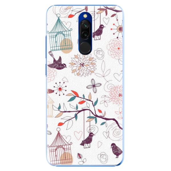 Plastové pouzdro iSaprio - Birds - Xiaomi Redmi 8