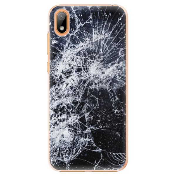 Plastové pouzdro iSaprio - Cracked - Huawei Y5 2019