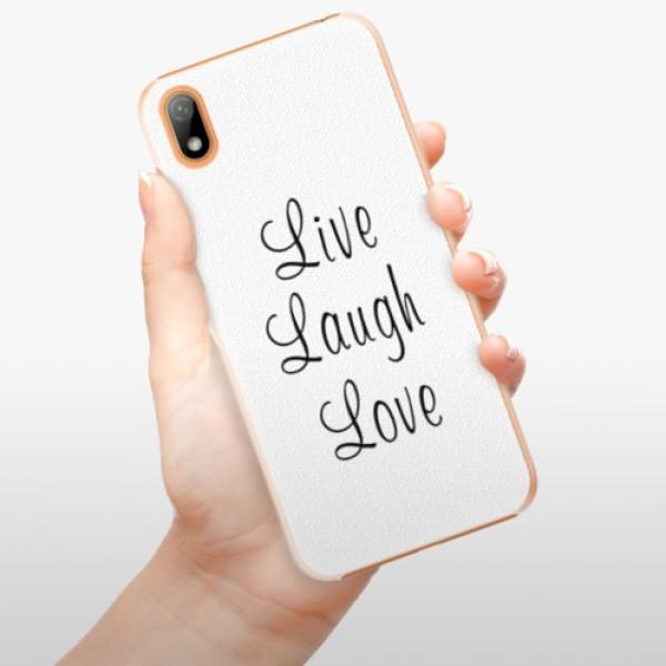 Plastové pouzdro iSaprio - Live Laugh Love - Huawei Y5 2019