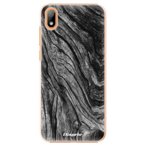 Plastové pouzdro iSaprio - Burned Wood - Huawei Y5 2019