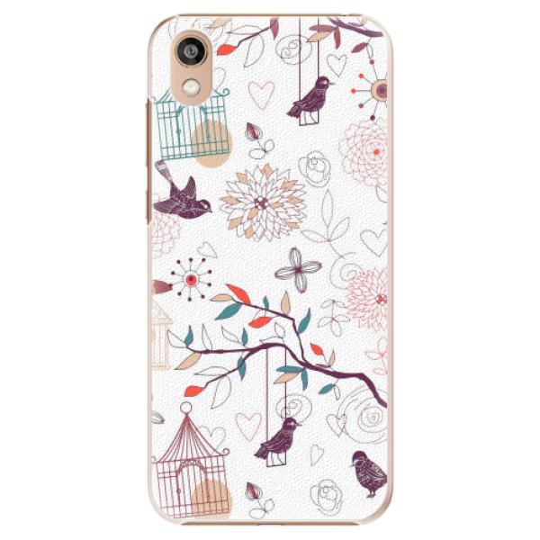 Plastové pouzdro iSaprio - Birds - Huawei Honor 8S