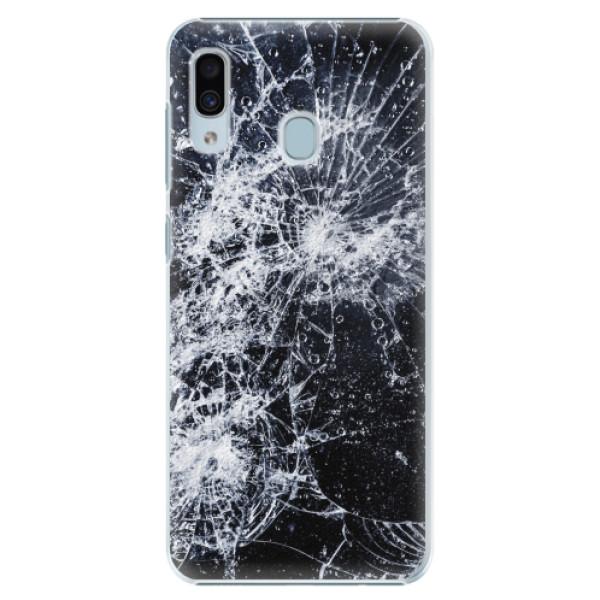 Plastové pouzdro iSaprio - Cracked - Samsung Galaxy A20