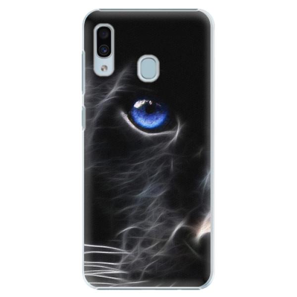 Plastové pouzdro iSaprio - Black Puma - Samsung Galaxy A20