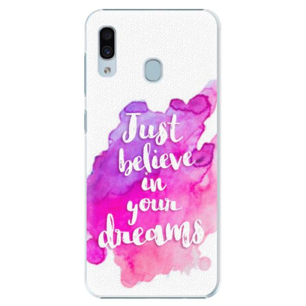 Plastové pouzdro iSaprio - Believe - Samsung Galaxy A20