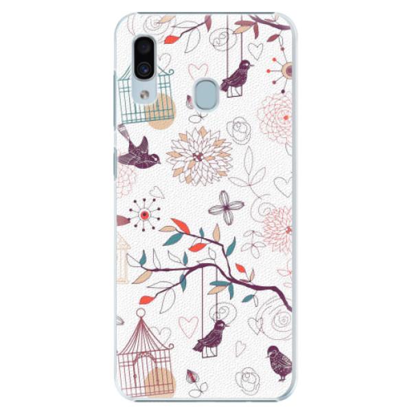 Plastové pouzdro iSaprio - Birds - Samsung Galaxy A20