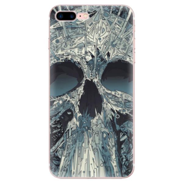 Odolné silikonové pouzdro iSaprio - Abstract Skull - iPhone 7 Plus