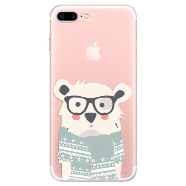 Odolné silikonové pouzdro iSaprio - Bear with Scarf - iPhone 7 Plus