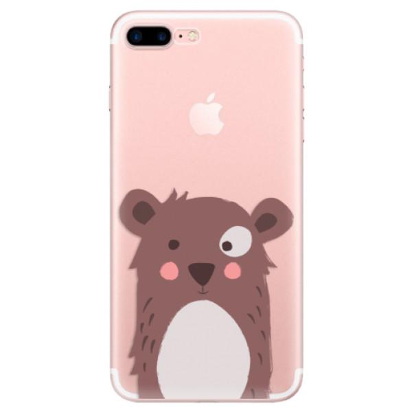 Odolné silikonové pouzdro iSaprio - Brown Bear - iPhone 7 Plus