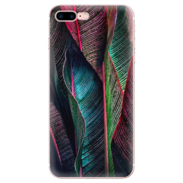 Odolné silikonové pouzdro iSaprio - Black Leaves - iPhone 7 Plus