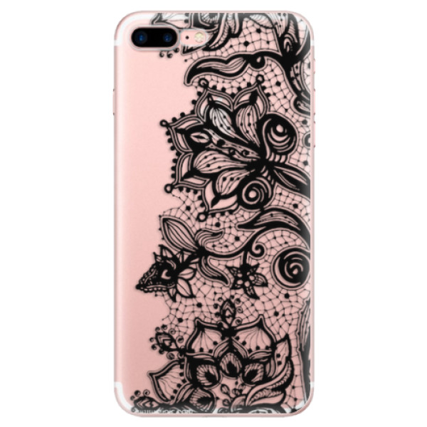 Odolné silikonové pouzdro iSaprio - Black Lace - iPhone 7 Plus