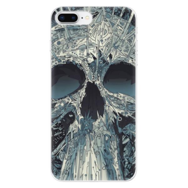 Odolné silikonové pouzdro iSaprio - Abstract Skull - iPhone 8 Plus