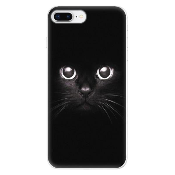 Odolné silikonové pouzdro iSaprio - Black Cat - iPhone 8 Plus