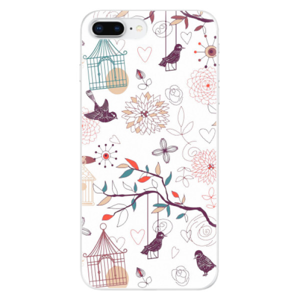 Odolné silikonové pouzdro iSaprio - Birds - iPhone 8 Plus