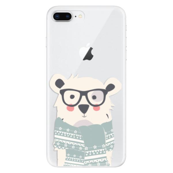Odolné silikonové pouzdro iSaprio - Bear with Scarf - iPhone 8 Plus