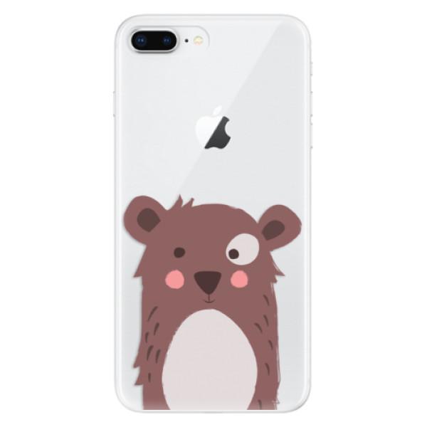 Odolné silikonové pouzdro iSaprio - Brown Bear - iPhone 8 Plus