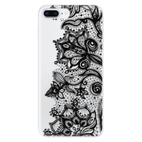 Odolné silikonové pouzdro iSaprio - Black Lace - iPhone 8 Plus