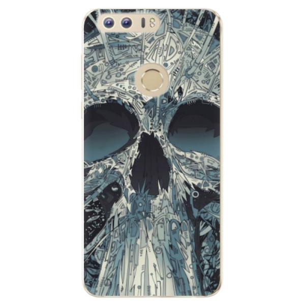 Odolné silikonové pouzdro iSaprio - Abstract Skull - Huawei Honor 8