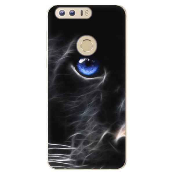 Odolné silikonové pouzdro iSaprio - Black Puma - Huawei Honor 8