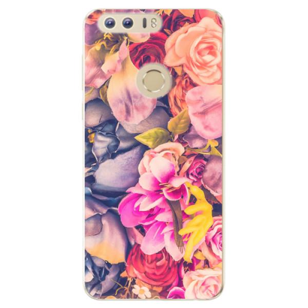 Odolné silikonové pouzdro iSaprio - Beauty Flowers - Huawei Honor 8