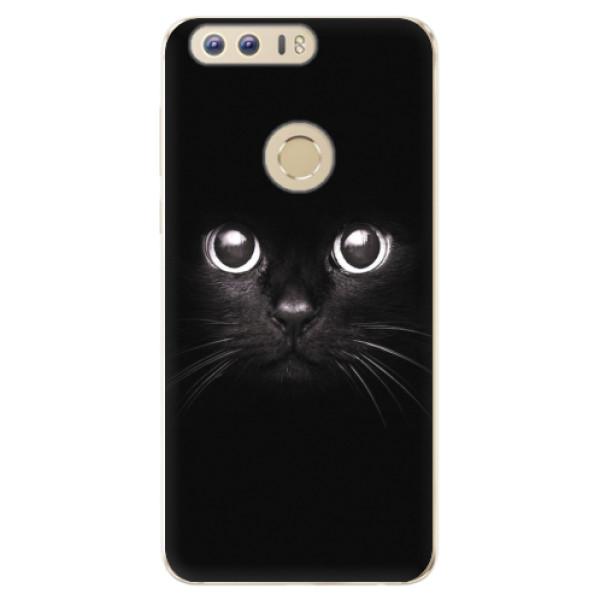 Odolné silikonové pouzdro iSaprio - Black Cat - Huawei Honor 8