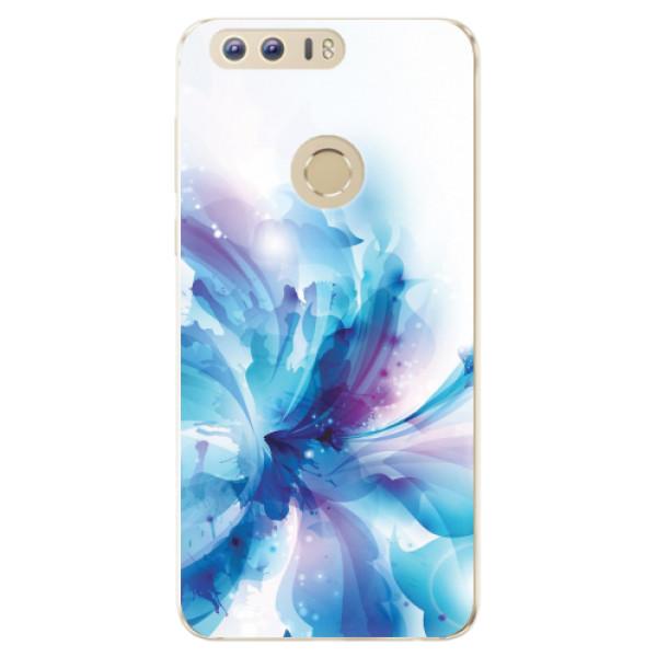 Odolné silikonové pouzdro iSaprio - Abstract Flower - Huawei Honor 8