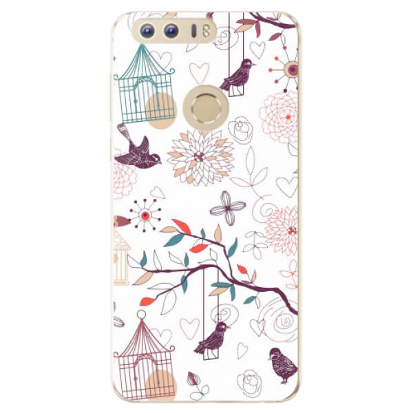 Odolné silikonové pouzdro iSaprio - Birds - Huawei Honor 8