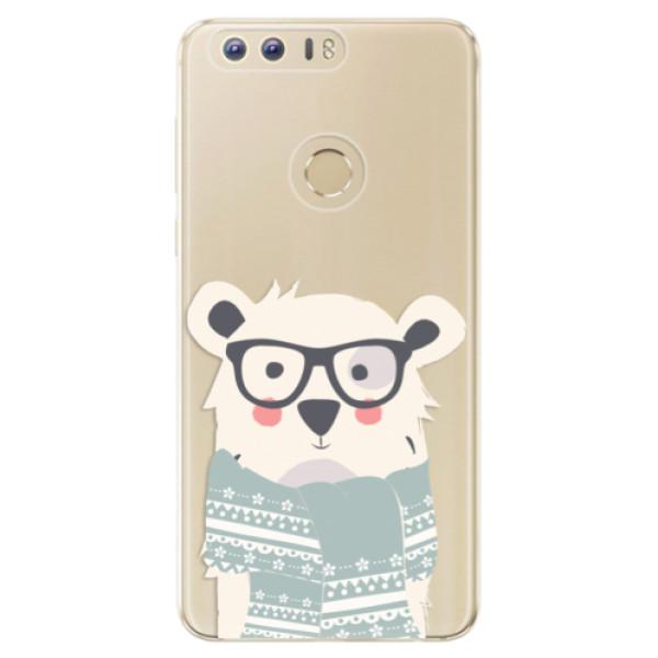 Odolné silikonové pouzdro iSaprio - Bear with Scarf - Huawei Honor 8