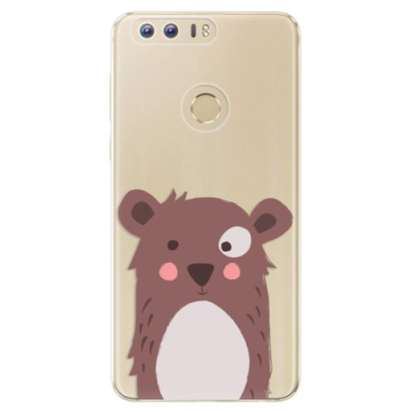 Odolné silikonové pouzdro iSaprio - Brown Bear - Huawei Honor 8