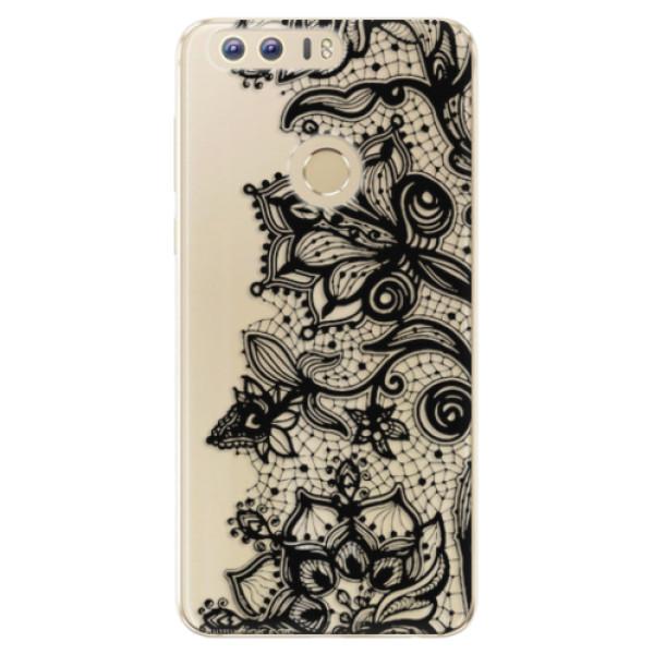 Odolné silikonové pouzdro iSaprio - Black Lace - Huawei Honor 8