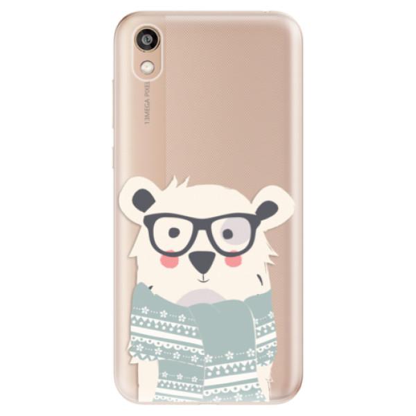 Odolné silikonové pouzdro iSaprio - Bear with Scarf - Huawei Honor 8S