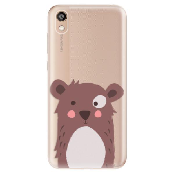 Odolné silikonové pouzdro iSaprio - Brown Bear - Huawei Honor 8S
