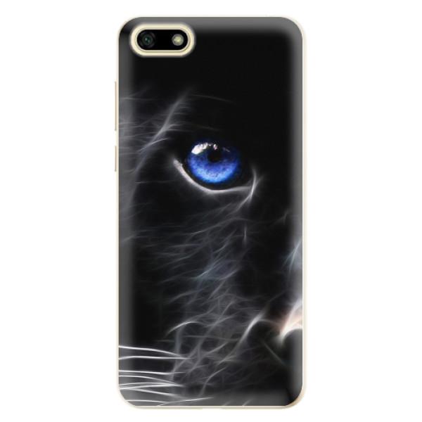 Odolné silikonové pouzdro iSaprio - Black Puma - Huawei Y5 2018